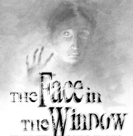 face in the window cover