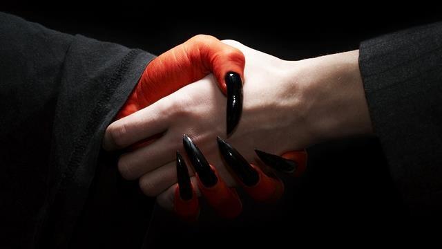 devil handshake