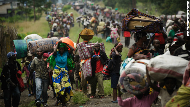 fleeing east congo