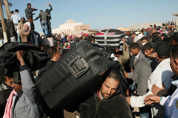 fleeing libya
