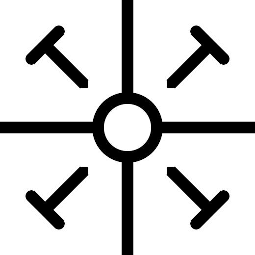 exploding cross