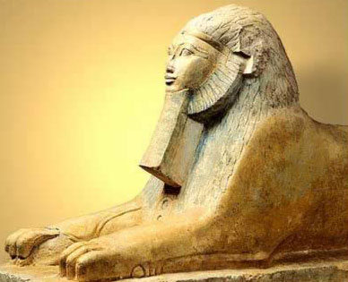 sphinx with beard