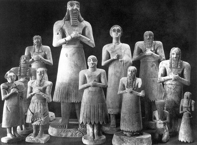Sumerians with moustache