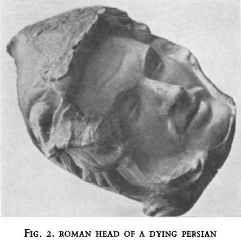 roman head dying persion
