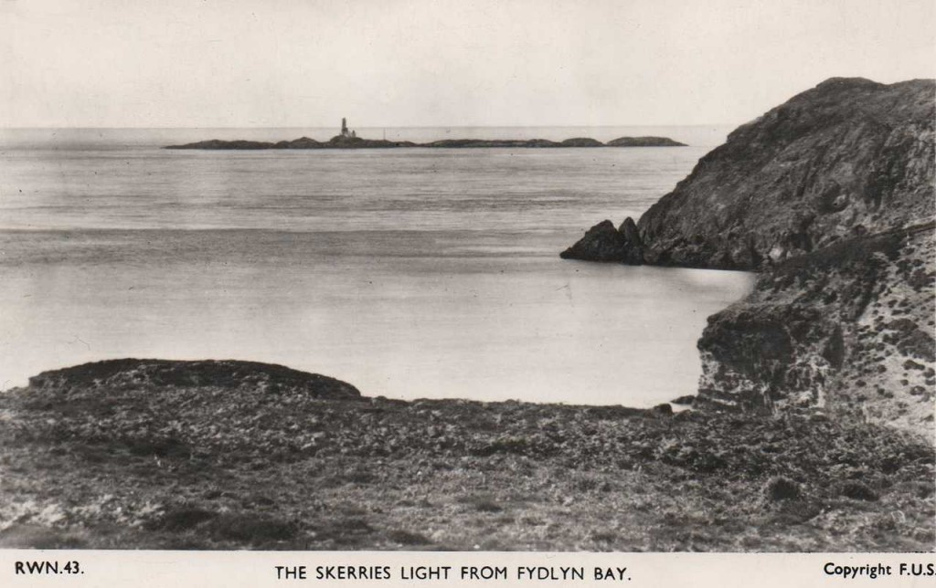 Anglesey, The Skerries, Lighthouse from Fydlyn Bay