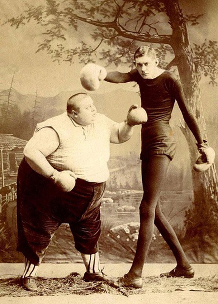 fat man thin man sideshow performers late 19 cent