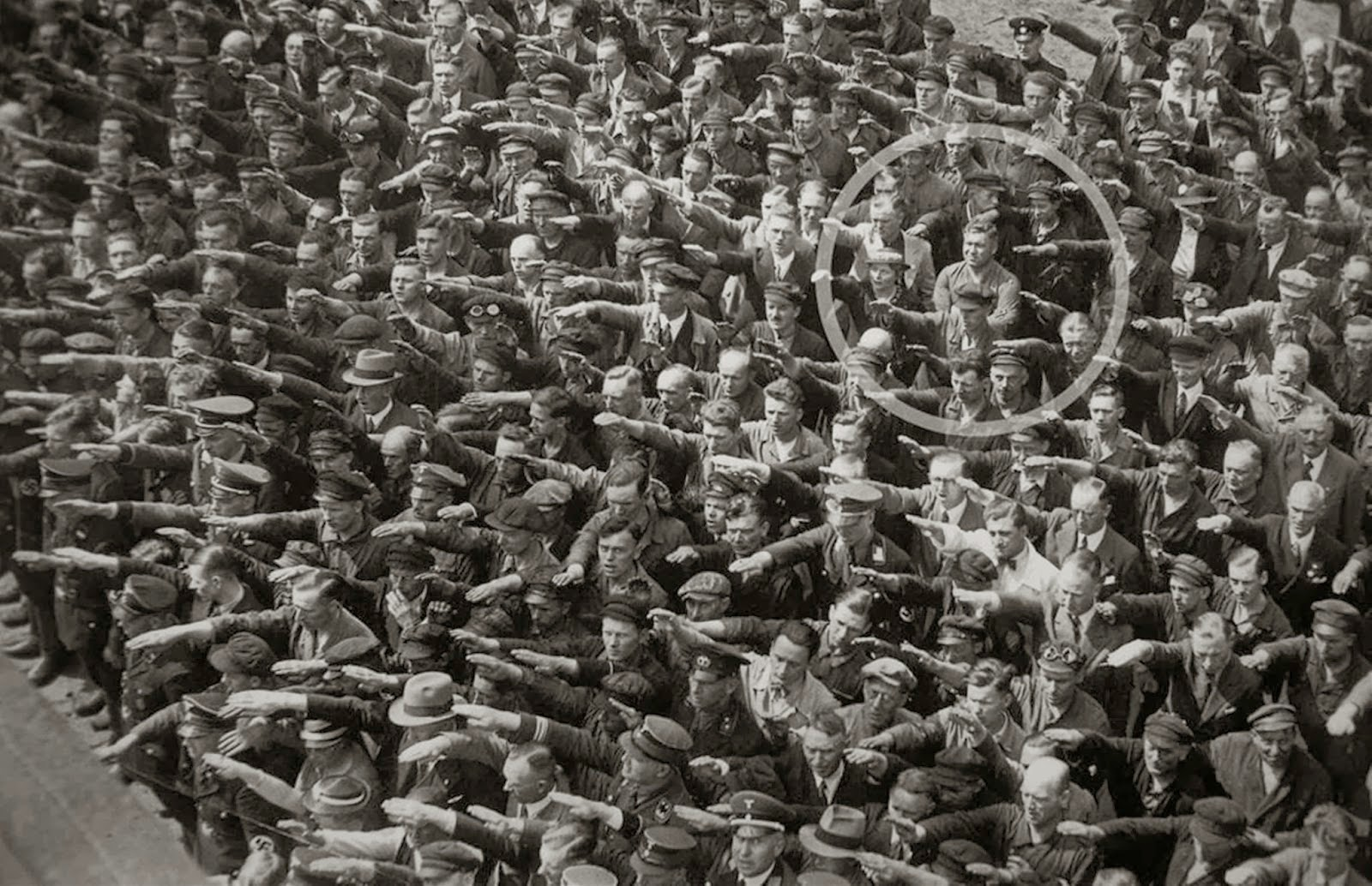 the non salute in nazi germanty