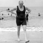 Daily History Picture: Churchill Swims