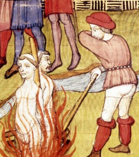Templars being burnt