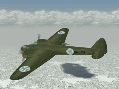 blenheim iv with marks of finnish airforce