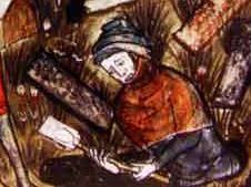 burying plague victims at tournai closeup
