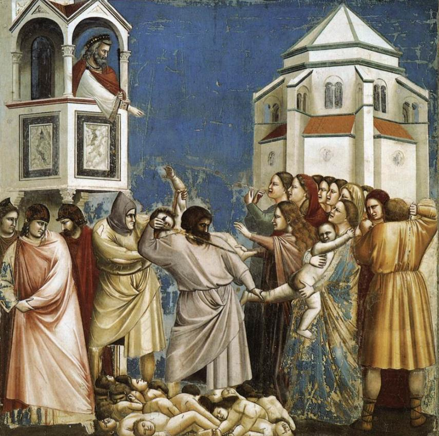giotto blow up massacre innocents