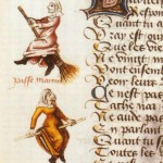 Earliest Manuscript Broomstick Witches