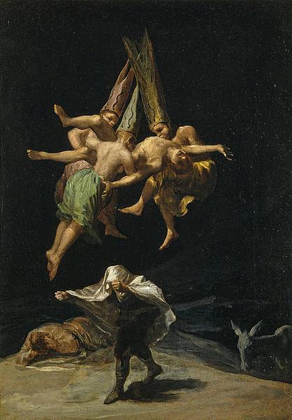 Goya Witches Flight