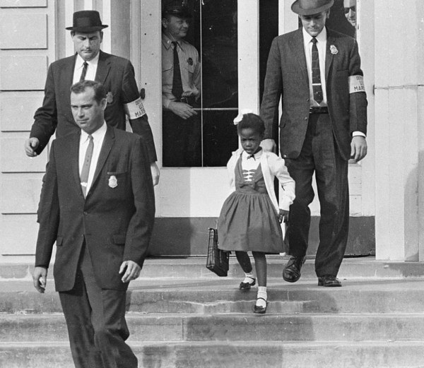 Ruby Bridges, the first african-american to attend a white elementary school in the South (November 14th, 1960)