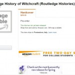New History Books: Routledge History Witchcraft