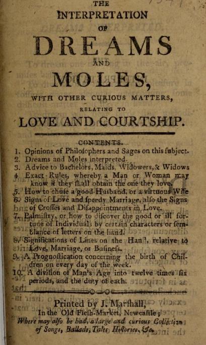 dreams and moles
