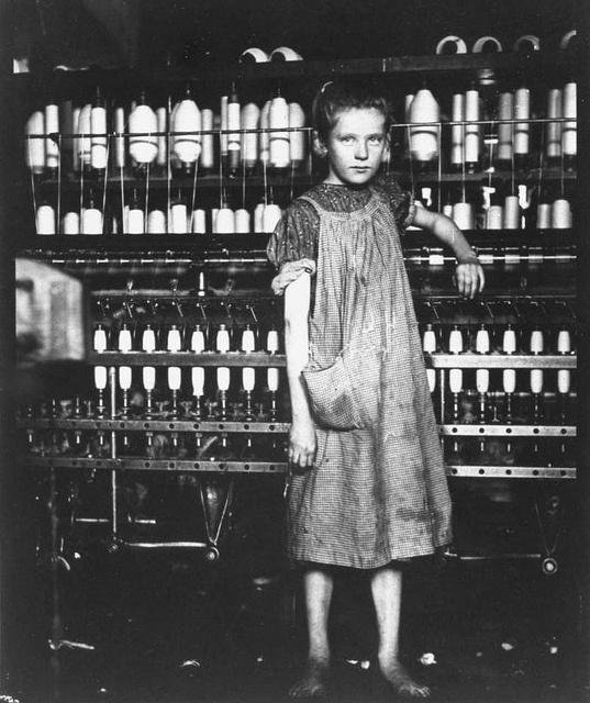 scottish girl working in textile mill
