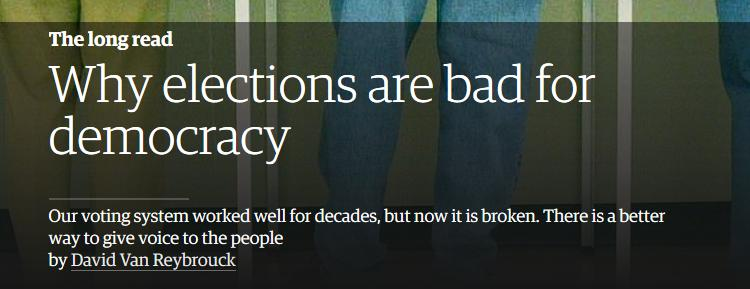 why elections are bad for democracy essay The importance of elections to a democratic country essay wow voting isn't just important to democracy democracy, human rights and the importance of votin.