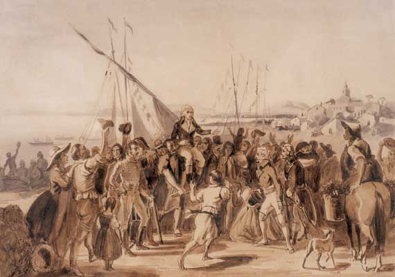 Daily History Picture: Miranda Arrives in the Americas