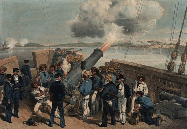 Daily History Picture: Naval Bombardment