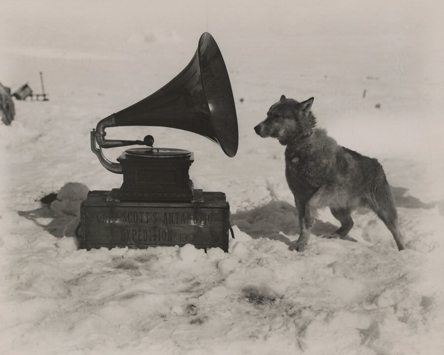 Daily History Picture: Scott's Gramaphone