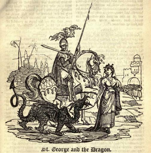 Daily History Picture: George Tames the Dragon