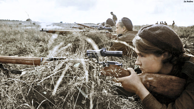 Daily History Picture: Snipers Prepare
