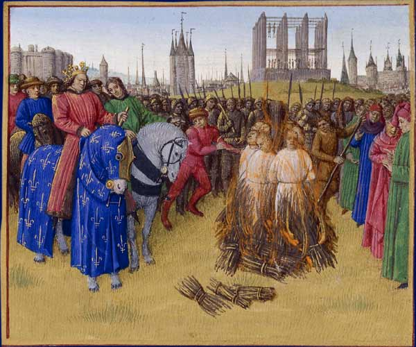 Daily History Picture:  Burning Heretics
