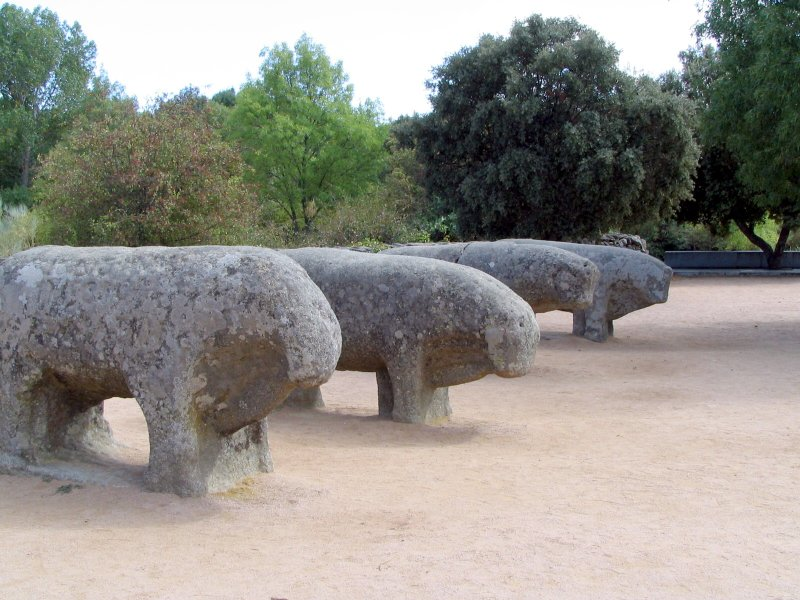 Daily History Picture: Stone Bulls