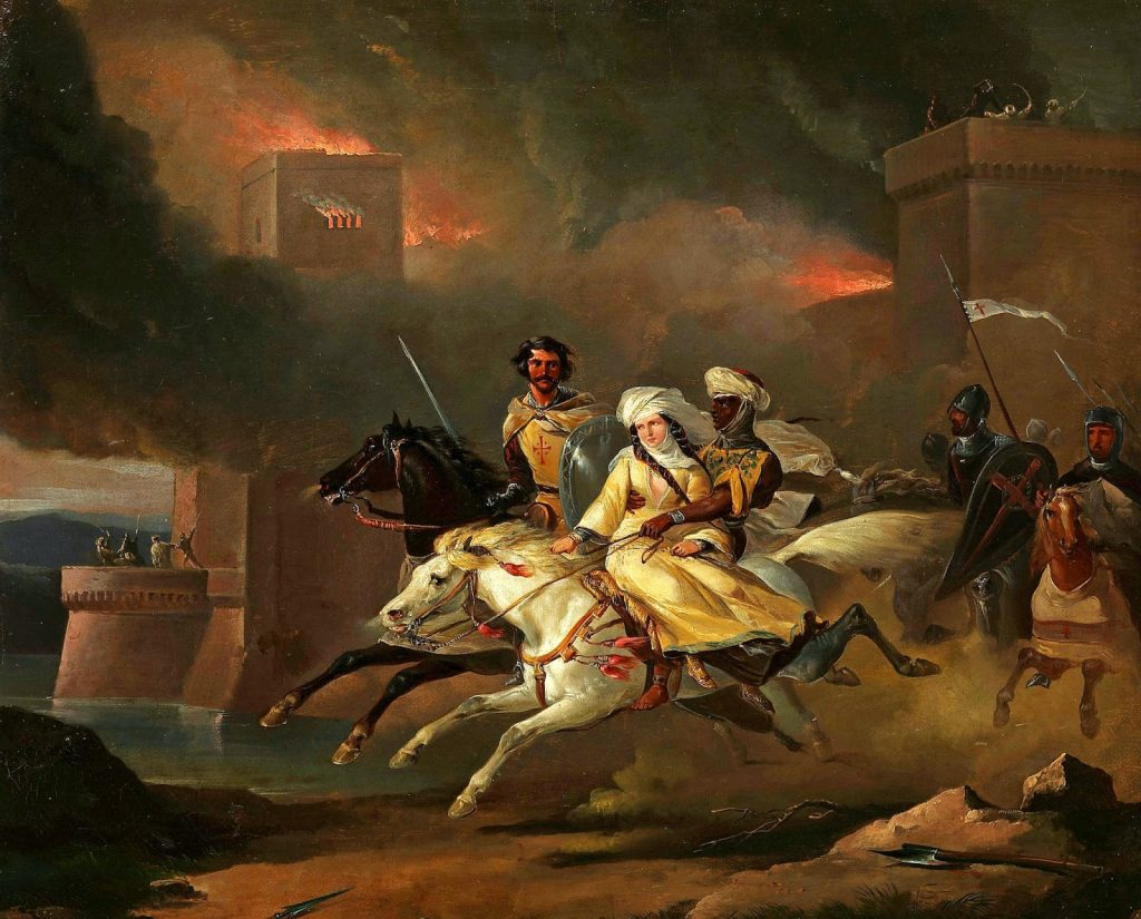 Daily History Picture: Abduction by Templars