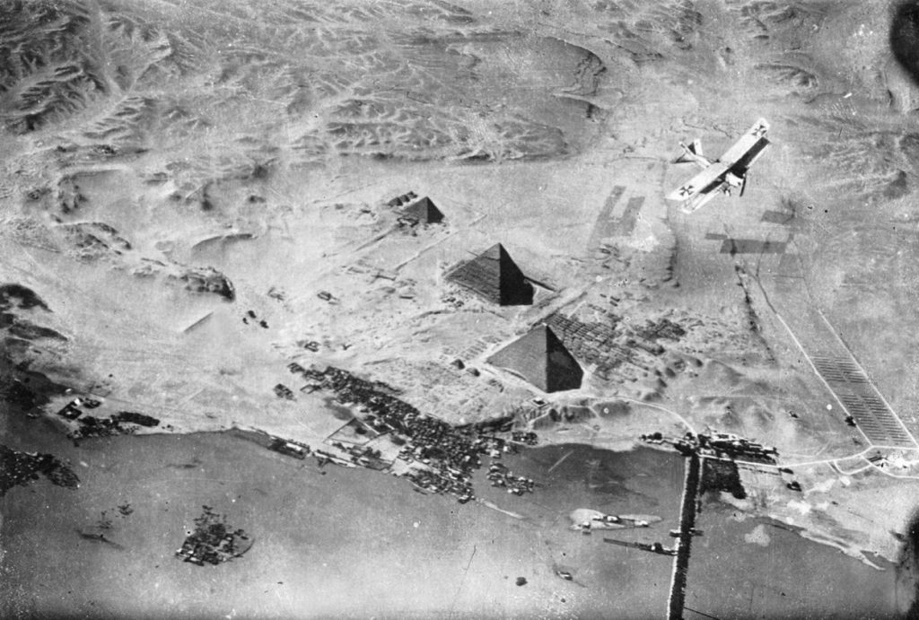 Daily History Picture: WW1 German Planes Over Pyramids