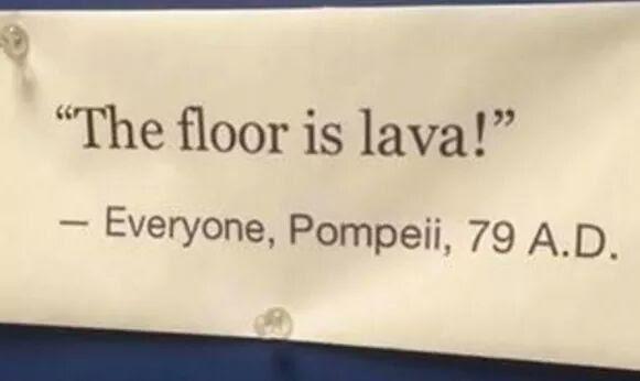 Daily History Picture: Pompeii Joke