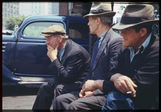 Daily History Picture: Three Men in New York Park 1940s